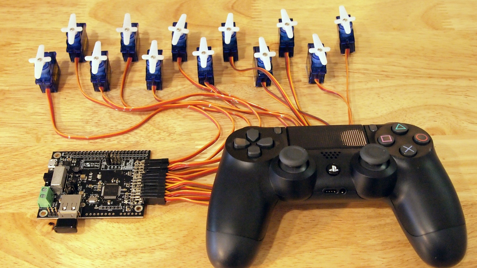 Servoshock 2: Servo Control with the PS4 Controller by Cross Product