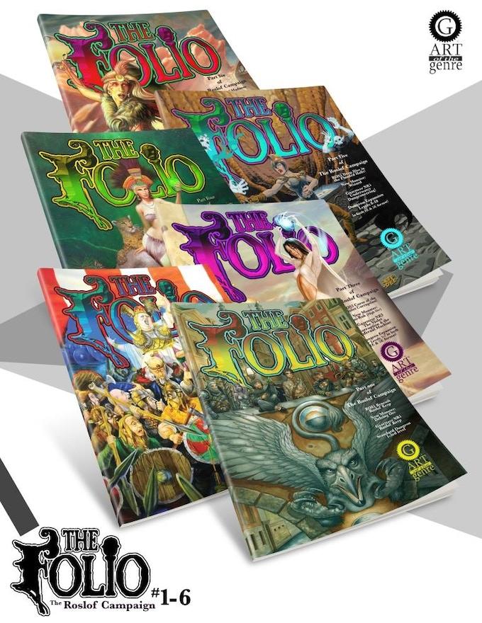 Folios #1-#6 of The Roslof Keep Campaign.