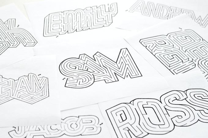 A-Maze Me | Custom Hand-Designed Name Mazes by David