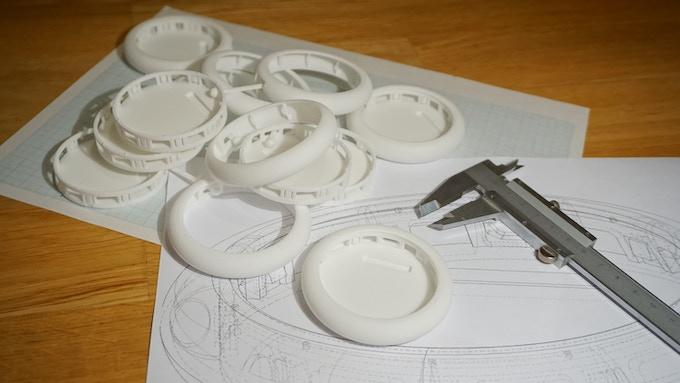 Polyamide SLS 3D prints of the Friendly Stack Control Unit case