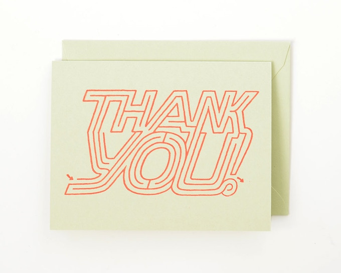"""Thank You Maze Card"" for $5 backers"