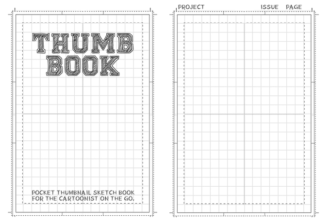 Thumb books: pocket thumbnail sketchbook for cartoonists by jeff.