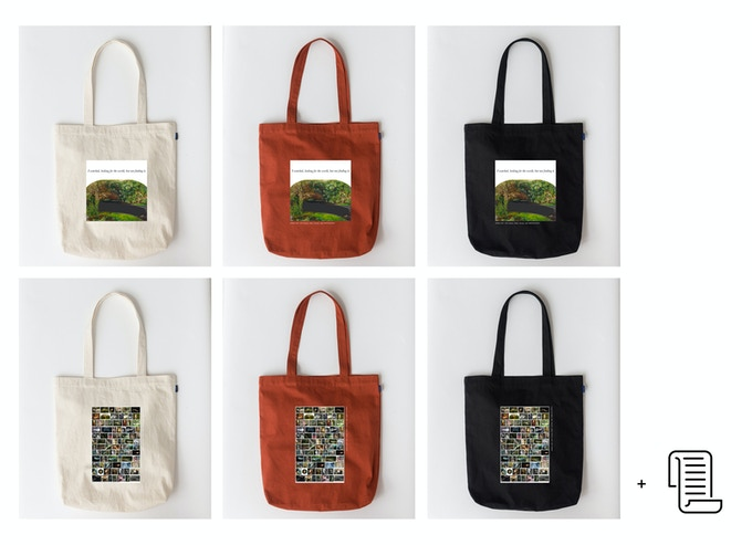 Tote Bag: White, Red, or Black (two different print options) & Donor List
