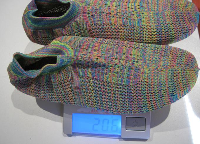 feather-light design, only around 200g/pair