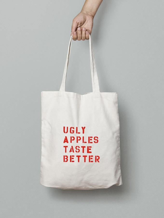 Ugly Apples Taste Better canvas tote bag