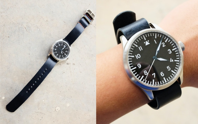 Placing your watch lower (nearer to the holes) will allow it to be worn as a single pass watch strap.