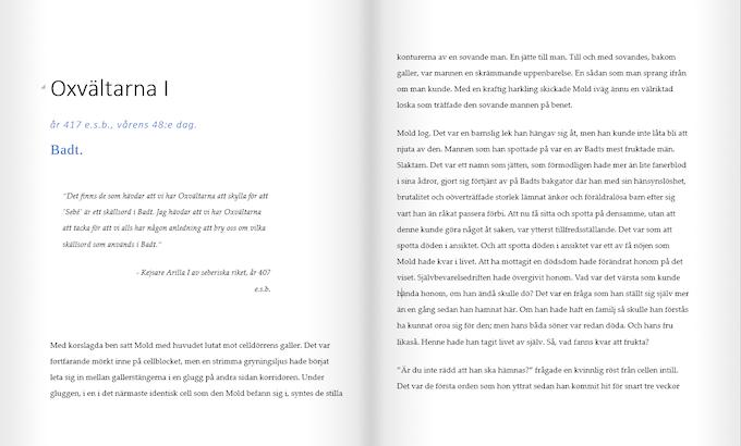 Första kapitlets första uppslag