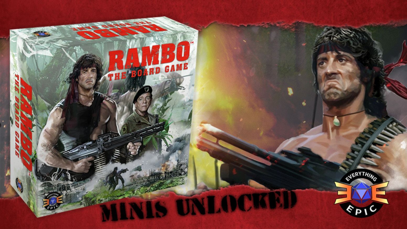 No Man, No Law, No War Can Stop RAMBO! The Tactical Mission-Based Cooperative Board Game with Unique Stealth and Fog of War Mechanics!