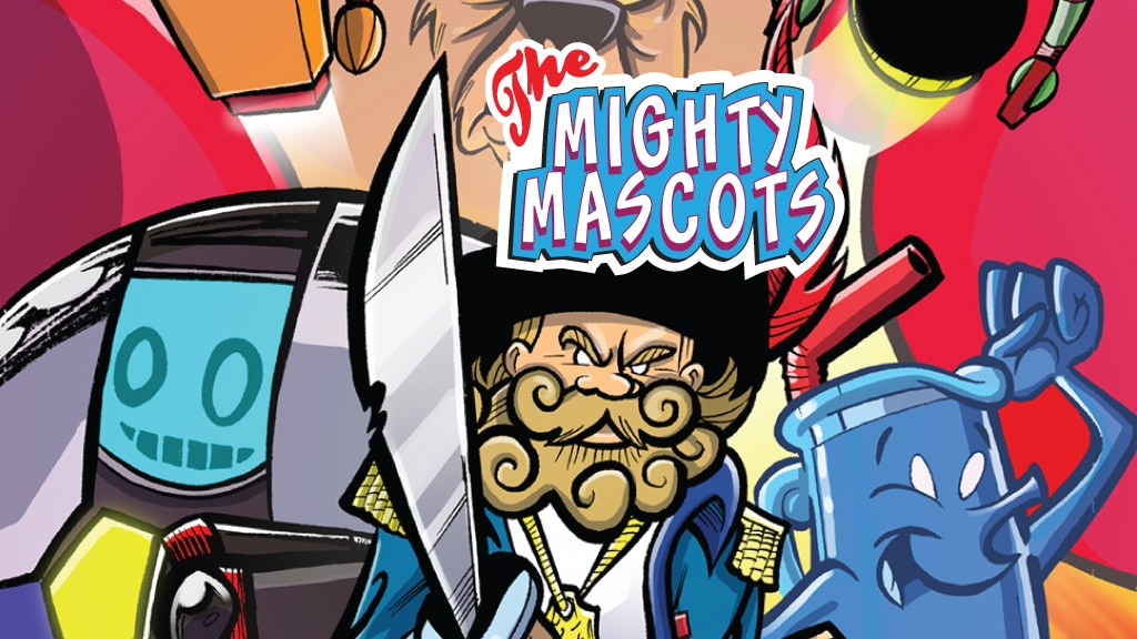 """The """"Mighty Mascots"""" comic book issue 1 project video thumbnail"""