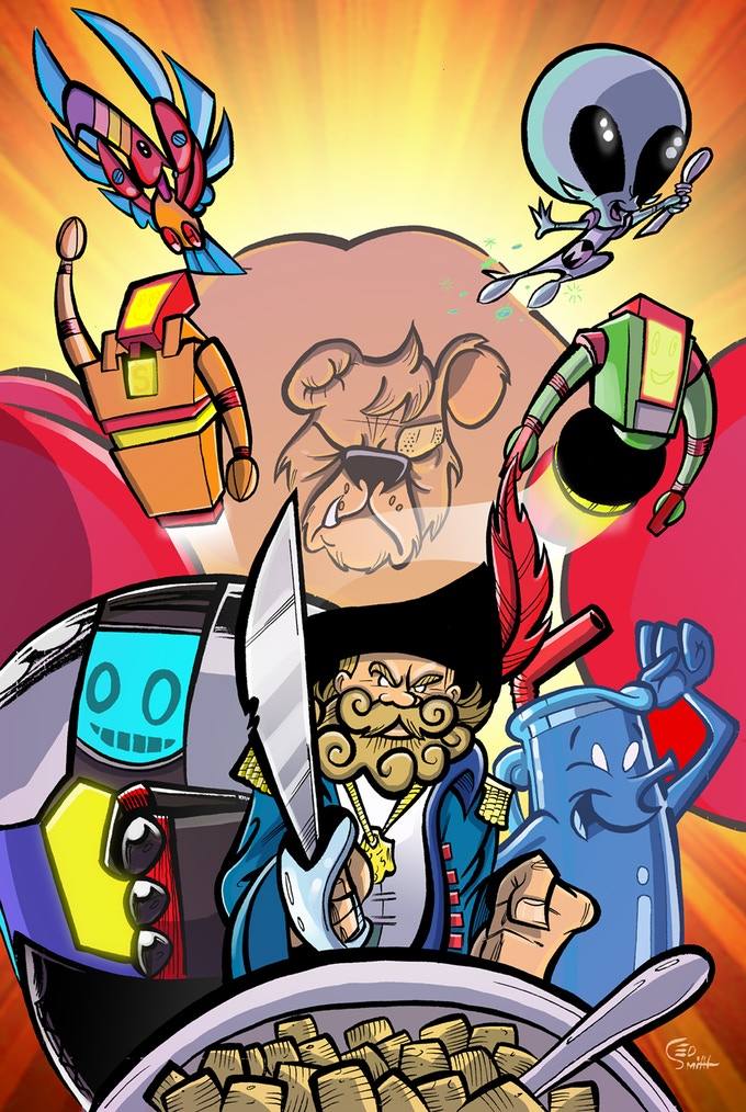 Mighty Mascots 11X17 Print by Ed Smith
