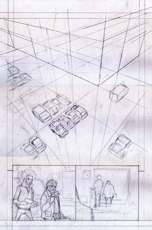 Page 1 Roughs by Ian Waryanto