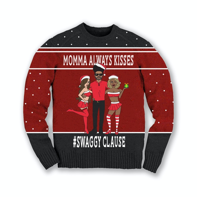 Momma Kissing Swaggy Clause Sweater