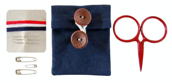 "Travel Sewing Kit 2.75"" square- Scissors are TSA-friendly"