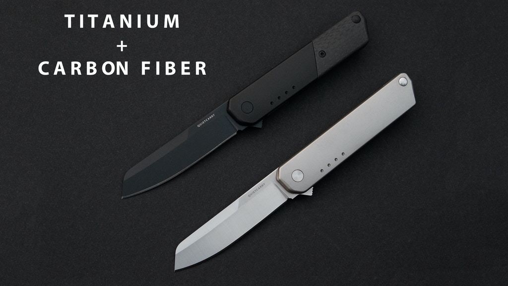 The iQ Titanium & Carbon Fiber Everyday Carry Flipper Knife