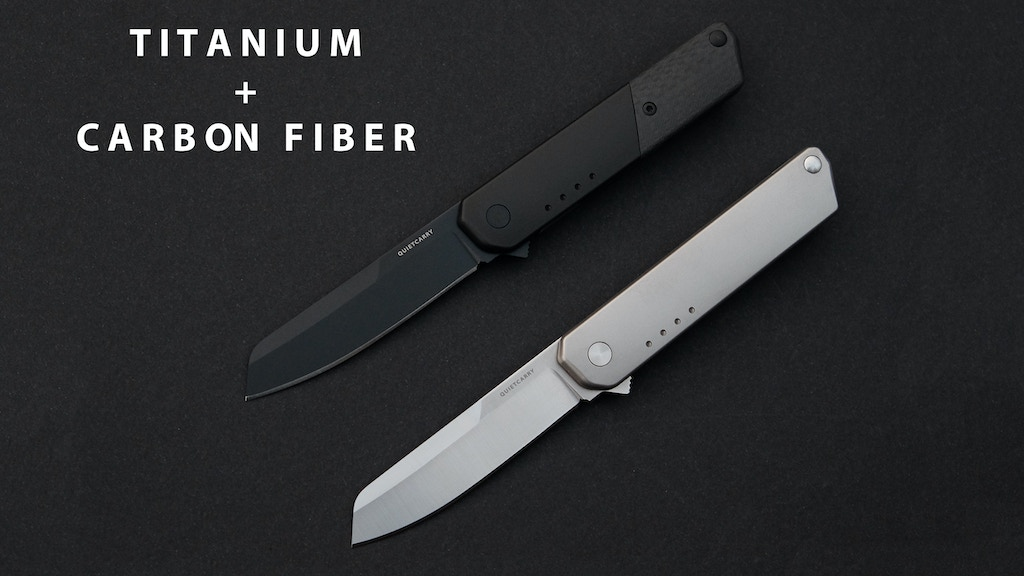 The iQ Titanium & Carbon Fiber Everyday Carry Flipper Knife project video thumbnail