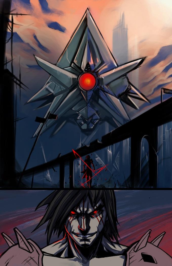 Metal Legion comic page
