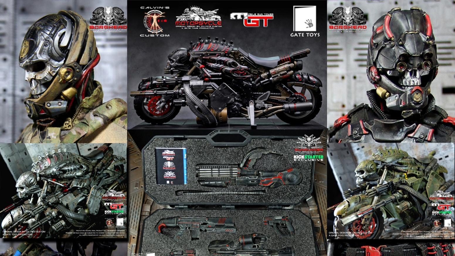 1/6 scale MOTOPSYCLE: mGT, BORGHEAD & GUNRUNNER