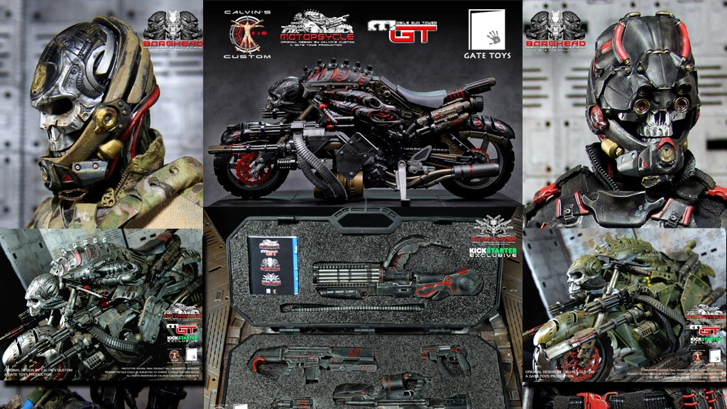 1/6 scale MOTOPSYCLE: mGT, BORGHEAD & GUNRUNNER project video thumbnail