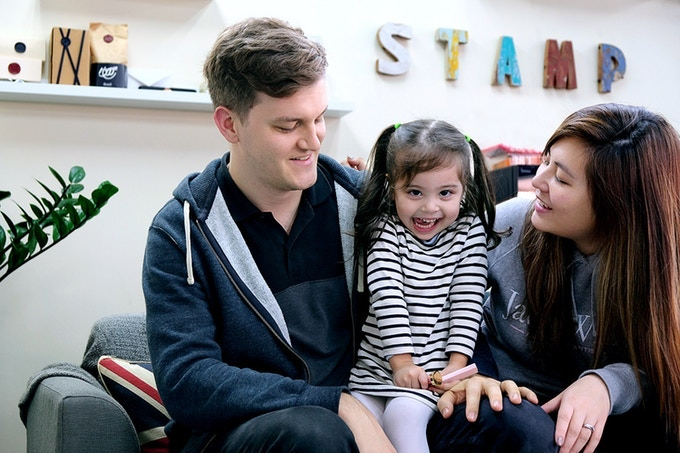 Founders Oli & June, with daughter Milly