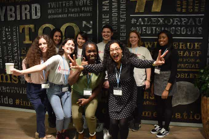 The Code First: Girls team and some of our incredible volunteers