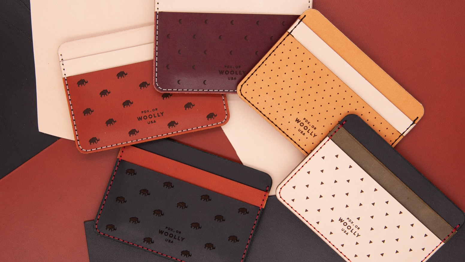 woollylab design your own wallet handmade in portland or by woolly