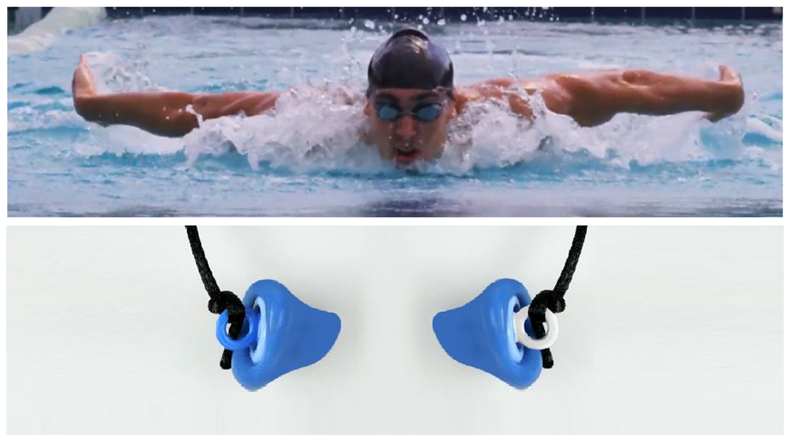 1caa3318262 ZenPlugs Swim; Revolutionary Double-Action Swimming Earplugs by Toby ...