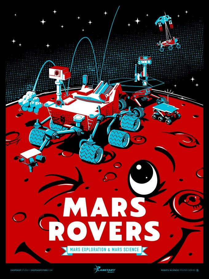 Poster #3: Mars Rovers Screen Print