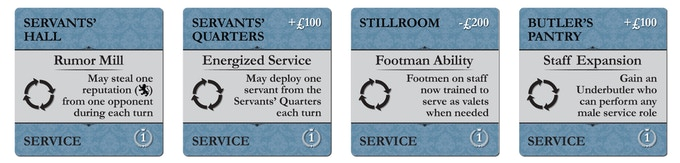 Service Tiles (upgrades abilities of service staff)