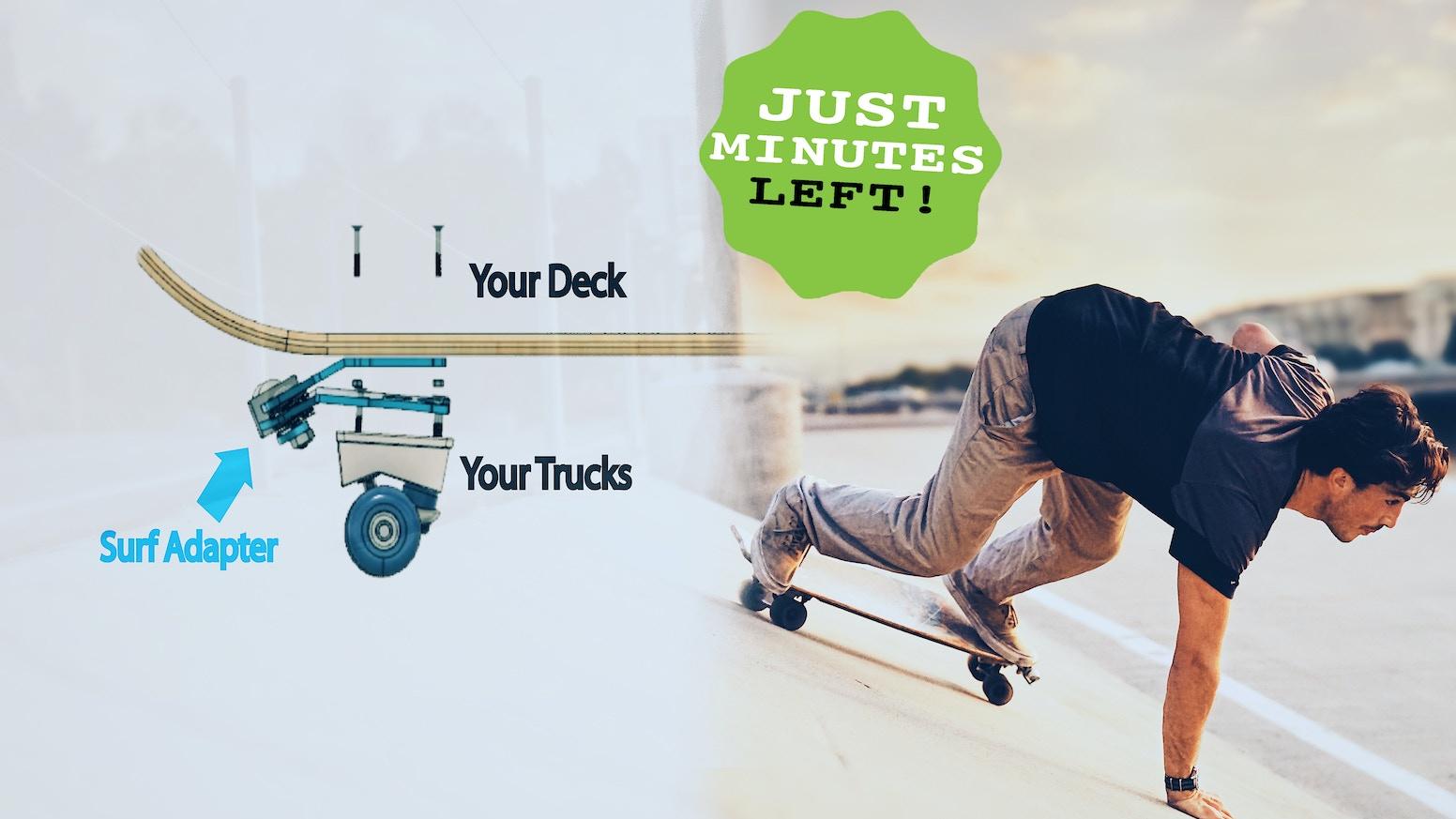 surf adapter make your skateboard ride like a surfboard. Black Bedroom Furniture Sets. Home Design Ideas
