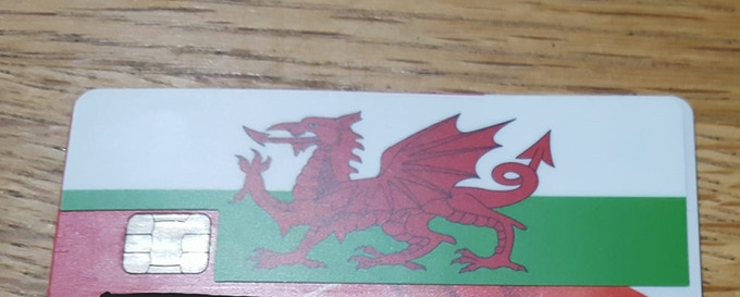 example of the Welsh flag one