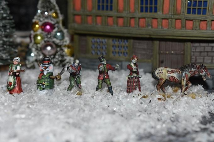 Full set of models in the War in Christmas Village She Ain't Havin' It'