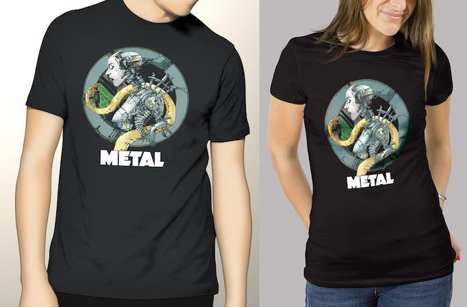 Cyborg and Snake T-shirt