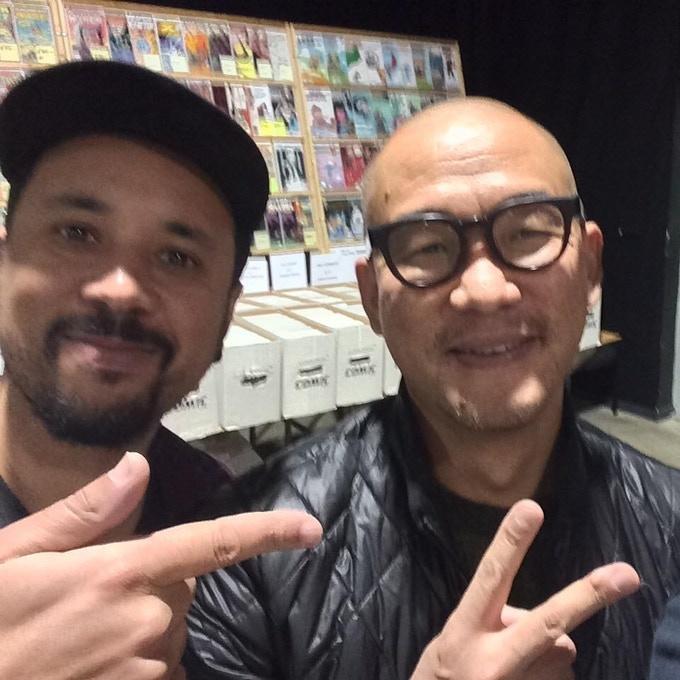 Simeon Aston with Kim Jung Gi