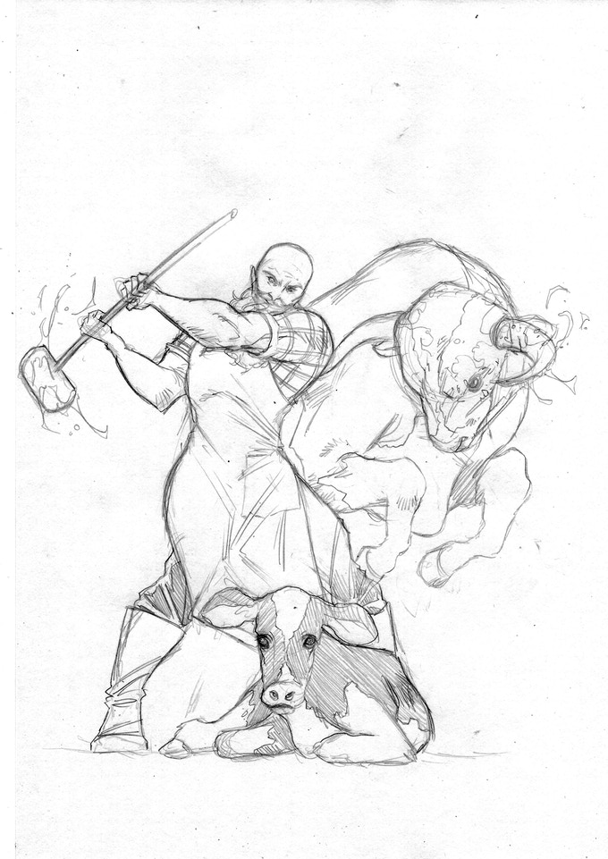 Cover concept art for issue #1 of Murder