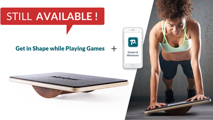 Plankpad helps with back pain, brings you in shape & you get a 6-pack by doing dynamic plank workouts & playing games on the smartphone or tablet