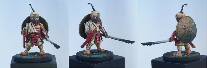 Color Quest Ronin painted by Arthur Noseda and sculpted by Valentin Zak