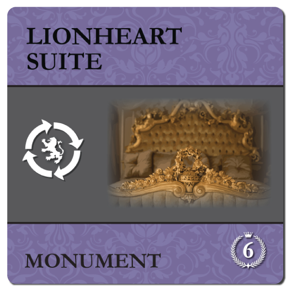Back side of the Lionheart Suite tile, which reflects the extraordinary hospitality achievement