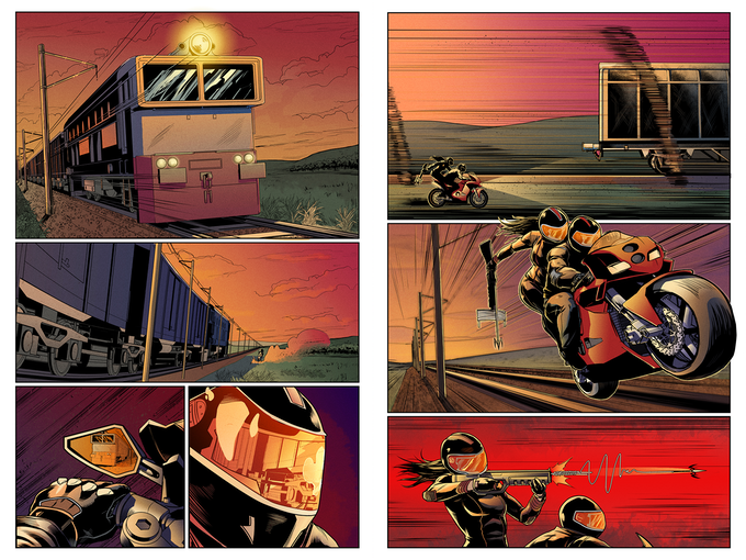 """BLOOD ON THE TRACKS - Chapter No. 3 """"Switch Bored"""" - Pages 1 & 2 by Brian Atkins and Brandon Daniels"""