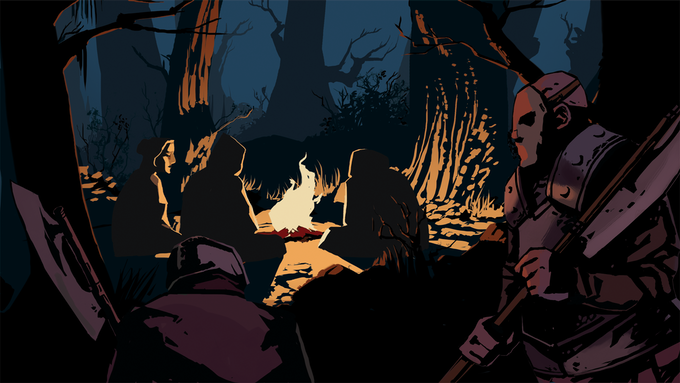 The Forests of Arckenbury hide unnatural dangers. On the road to Arckenbury, a place of refuge may not be as safe as it seems. Art by Jovina Chagas.