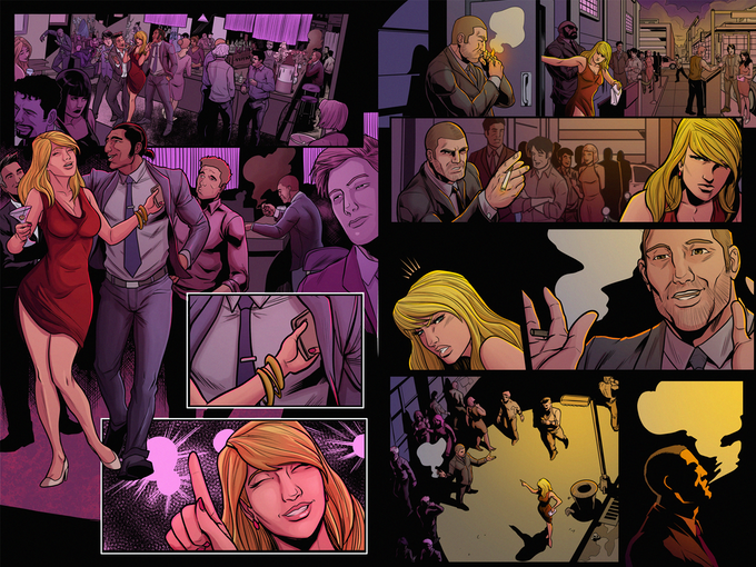 """BLOOD ON THE TRACKS - Chapter No. 3 """"Switch Bored"""" - Pages 10 & 11 by Brian Atkins and Brandon Daniels"""