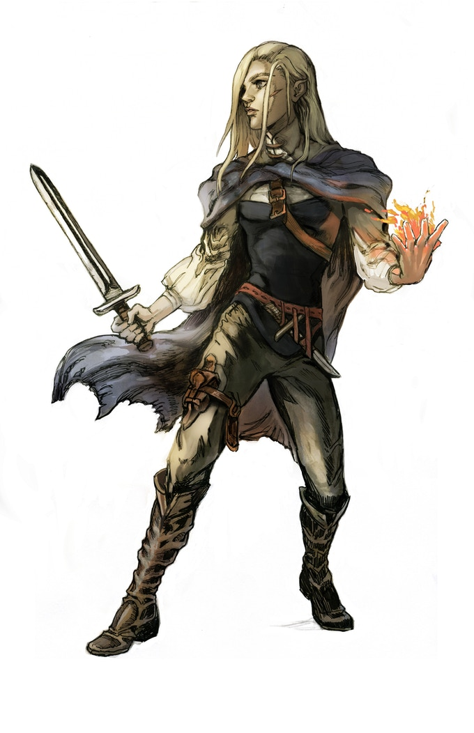 Auri, Human Rogue. While Magic is rare in Penumbra and it's practices taboo, some still dare. Art by Gyo.