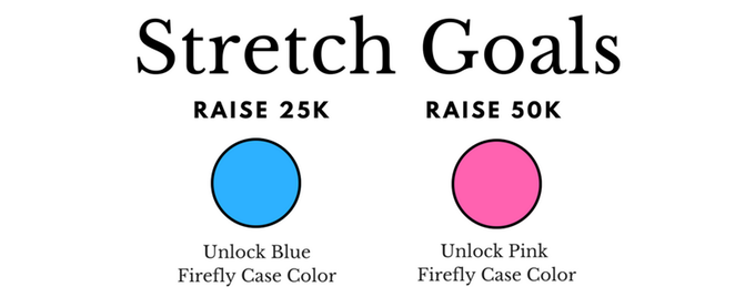 Help us reach our stretch goals and we'll add more colors!