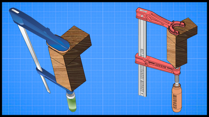 The Traditional F-Clamp vs The Modern Andrew Clamp