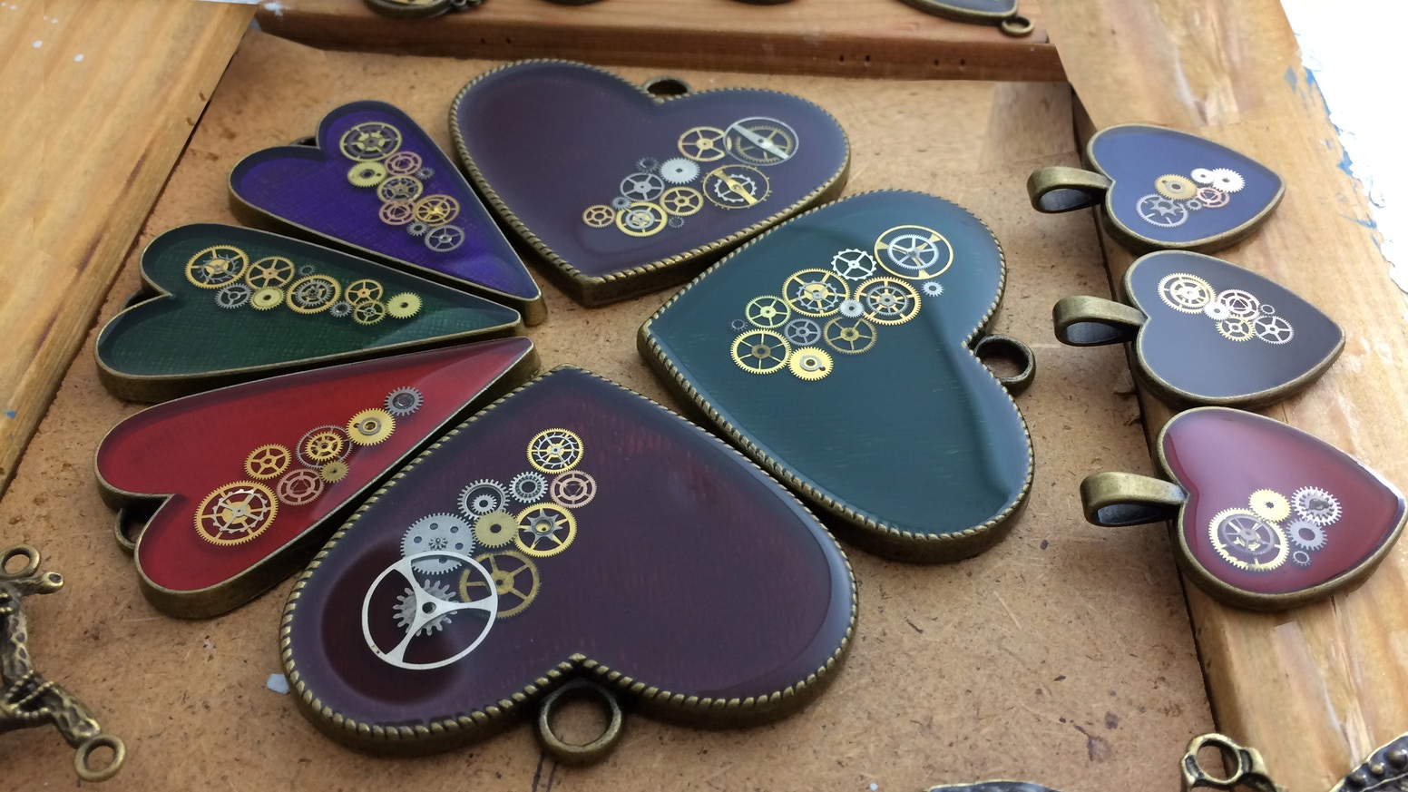 Nestre steampunk heart pendants for valentines day by ernoldas handmade heart pendant perfect gift for valentines day each pendant has random real watch mozeypictures Gallery