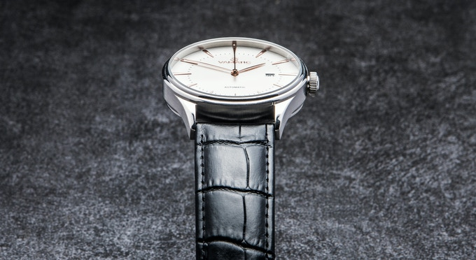 Fine finish of a watch case is ensured by special PVD coating process used to increase wear as well as resist scratch and corrosion.