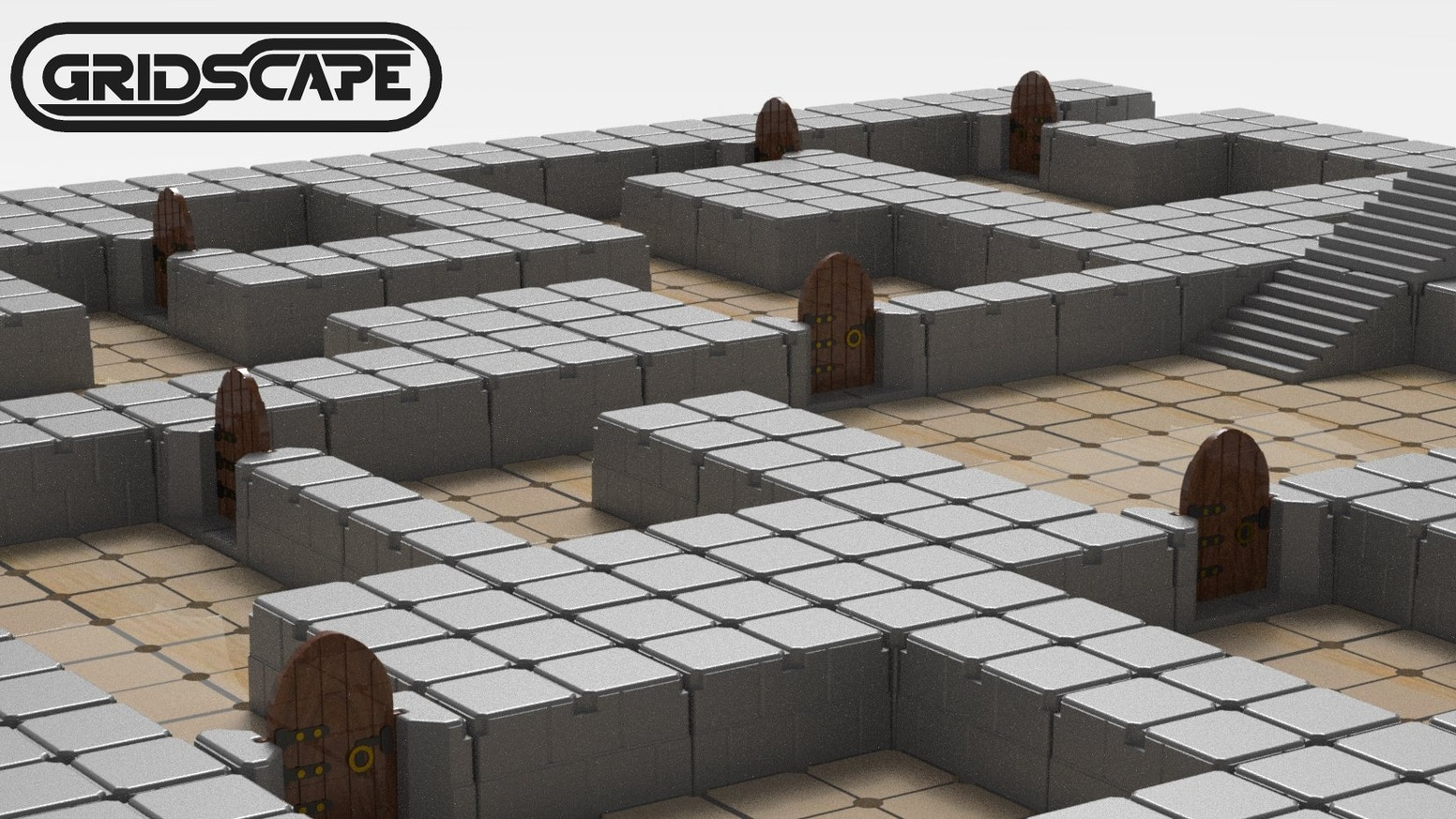 Revolutionize your tabletop gaming experience with the groundbreaking new dungeon-building system that snaps to a pegboard grid!