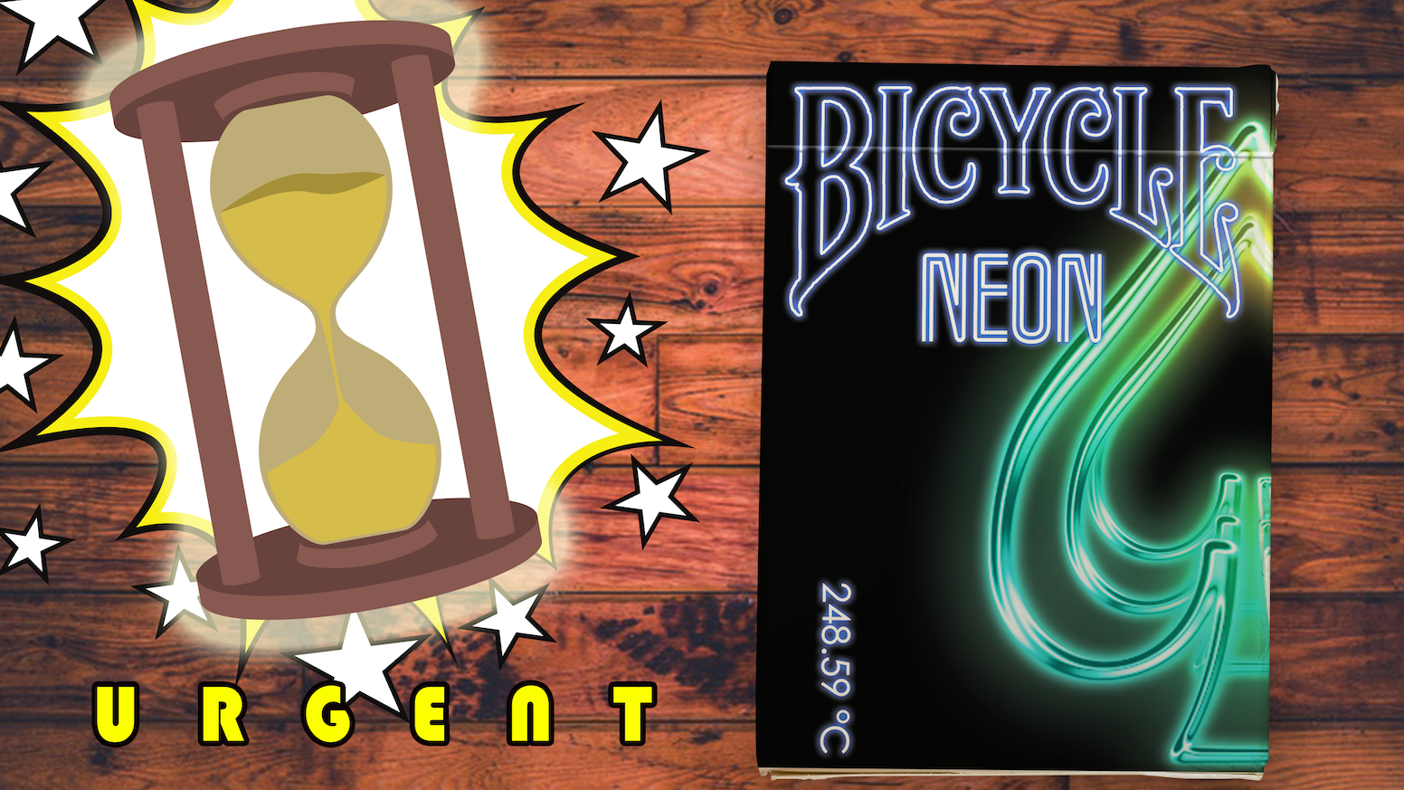 Bicycle Neon Playing Cards - Save the night of old Hong Kong