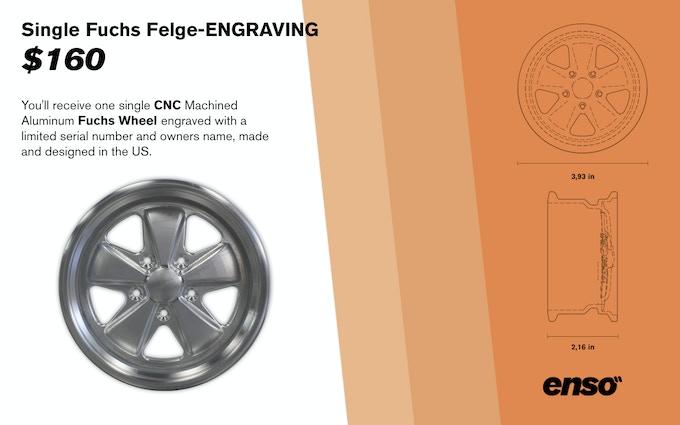 Single Fuchs Felge-Engraving