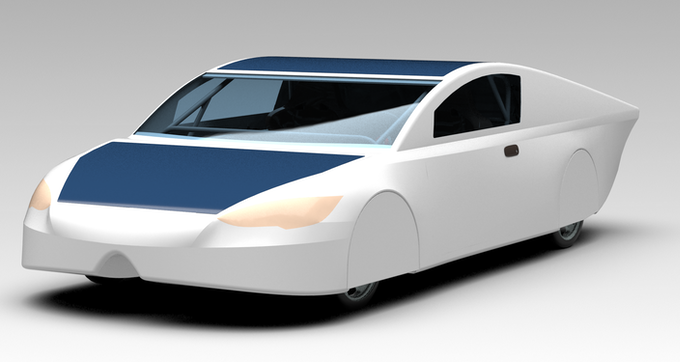 MSXII a dual occupant, sports coupe inspired solar car