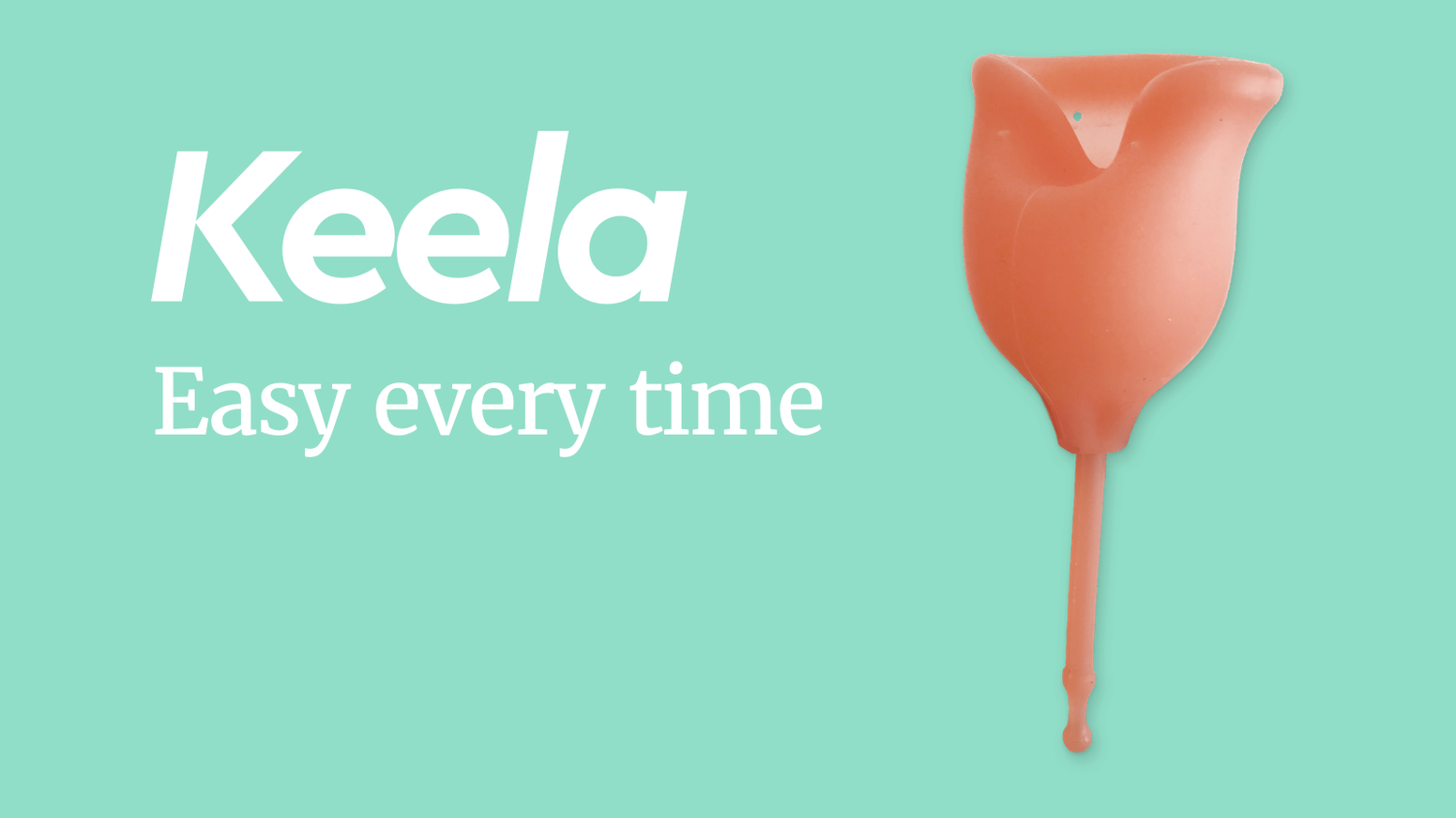 A redesigned menstrual cup to make life easier. Designed with a patented pull string stem, changing out your cup is as easy as a tampon.